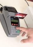 трудыы дебита кредита карточки Стоковое фото RF