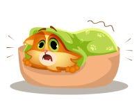 Трусливый кот испуган Стоковое Изображение