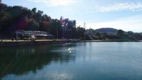 Трутень Аргентины озера сток-видео