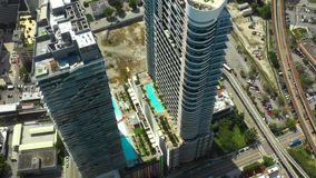 Трутень видео- Майами Brickell города воздушный видеоматериал