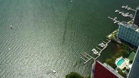 Трутень видео- Майами Brickell города воздушный акции видеоматериалы
