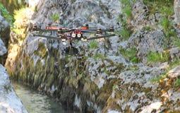 Трутень в полете Стоковая Фотография RF