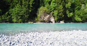 Трутень голубого реки кинематографический снятый в Швейцарии акции видеоматериалы