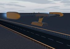 Трутень Ракеты (шоссе) Стоковая Фотография