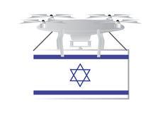 Трутень с израильским флагом Стоковое Изображение RF