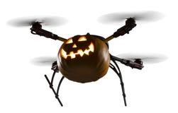 Трутень хеллоуина на белизне стоковые изображения rf