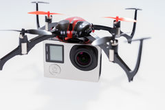 Трутень Quadcopter с камерой стоковые изображения rf