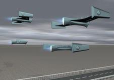 4 трутня оружия (пустыня) Стоковые Фотографии RF
