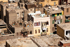 трущоба Египета жилищ Каира Стоковое фото RF