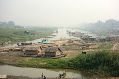 Трущобы, Мандалай, Bagan стоковые изображения rf