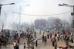 трущобы kolkata пожара частые стоковое изображение rf