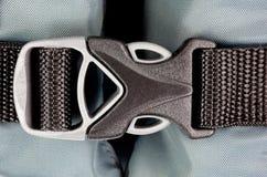 Трудная пластичная пряжка безопасности с webbing нейлона Стоковые Фотографии RF