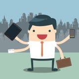 Трудная работа бизнесмена Стоковая Фотография