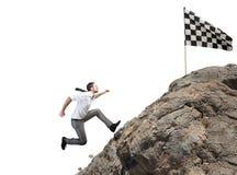 Трудная цель бизнеса карьеры и достижения Стоковые Изображения RF