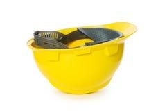 Трудный изолированный шлем Стоковые Фотографии RF