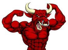 Трудный талисман спорт Bull бесплатная иллюстрация