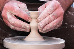 Трудолюбивые руки гончара 10 Стоковое Изображение