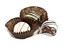 трюфеля конфеты bonbons Стоковые Фото