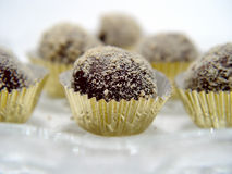 трюфеля крупного плана шоколада Стоковое Фото