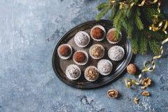 Трюфеля шоколада рождества Стоковое Изображение RF