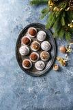 Трюфеля шоколада рождества Стоковая Фотография