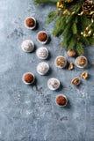 Трюфеля шоколада рождества Стоковые Изображения RF