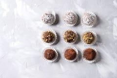 трюфеля шоколада handmade Стоковые Изображения