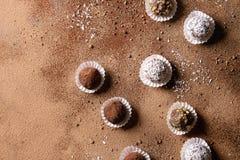 трюфеля шоколада handmade Стоковое Изображение RF