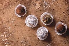 трюфеля шоколада handmade Стоковые Фото