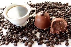 Трюфель кофе Стоковые Изображения