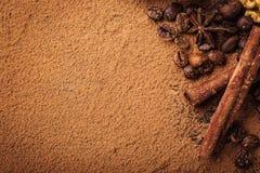 Трюфель шоколада, конфеты шоколада трюфеля с бурым порохом Ho Стоковое фото RF