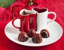 Трюфель шоколада на день валентинки Стоковые Изображения