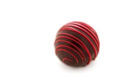 трюфеля изолированные шоколадом белые Стоковое Фото
