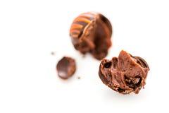 трюфеля изолированные шоколадом белые Стоковое Изображение