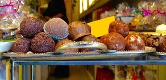 Трюфеля и конфеты шоколада Стоковое Фото