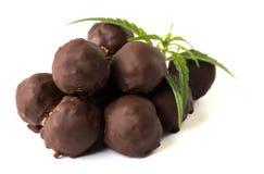 Трюфеля шоколада с марихуаной Стоковые Изображения