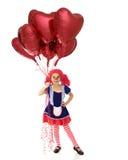 Тряпичная кукла валентинки Стоковые Изображения