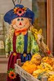 Тряпичная кукла в голубой шляпе Стоковое Фото