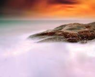 трясет заход солнца моря Стоковая Фотография RF