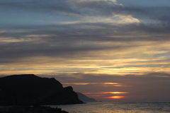 трясет заход солнца моря Стоковое Фото