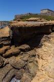 Трясет форму природы после размывания на береговой линии Стоковые Изображения RF