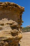 Трясет форму природы после размывания на береговой линии Стоковое Изображение