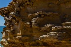 Трясет форму природы после размывания на береговой линии Стоковое Фото