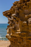 Трясет форму природы после размывания на береговой линии Стоковое фото RF