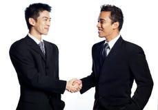 трястить рук африканского бизнесмена китайский Стоковое Изображение