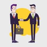 трястить рук бизнесменов 2 бизнесмена имеют деловое соглашение иллюстрация вектора