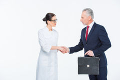 трястить рук предпринимателей Стоковое фото RF