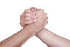 Трясти руки 2 мужских людей Стоковое фото RF