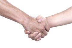 Трясти руки 2 мужских людей Стоковое Фото
