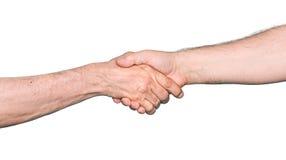 Трясти руки 2 мужских людей Стоковая Фотография
